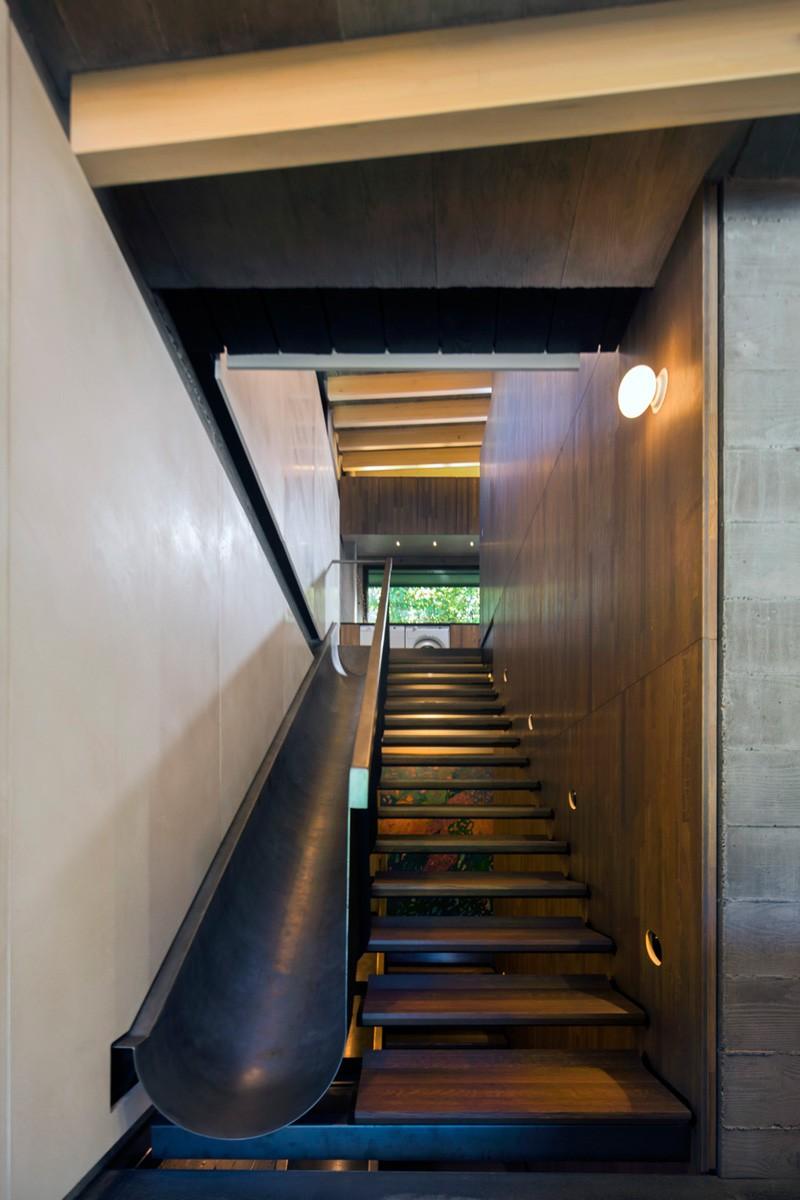 Vancouver grandma house slide slongside staircase