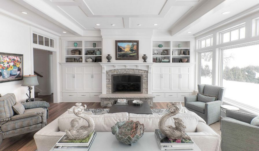 White Arched surround