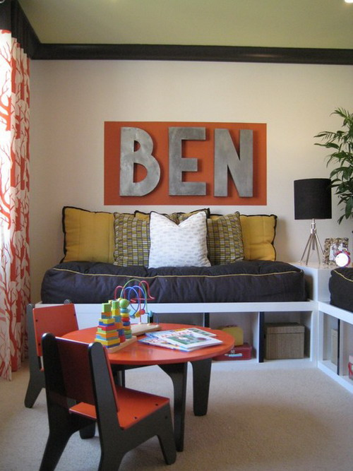 Wooden and metalic Ben letters