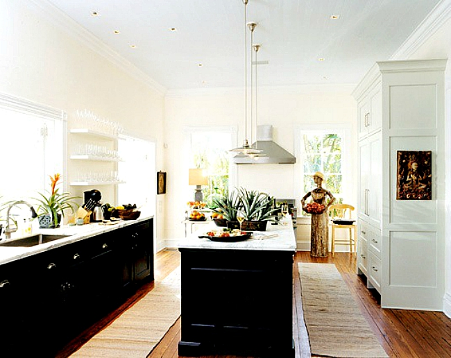 kitchen cabinets light upper dark lower go halfsies in your kitchen with bi colored cabinets 9161