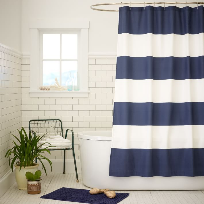 Bold Stripes Shower Curtain View In Gallery