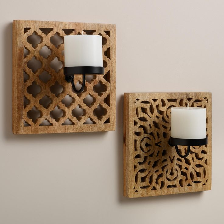 12 Best Wall Candle Sconces for Your Home : carved wood from www.homedit.com size 736 x 736 jpeg 59kB