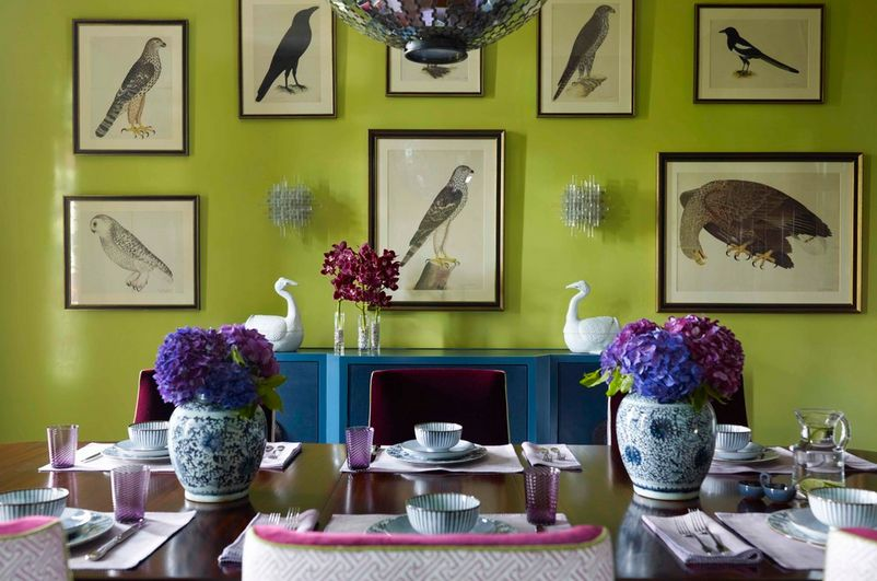 chartreuse wall paint color