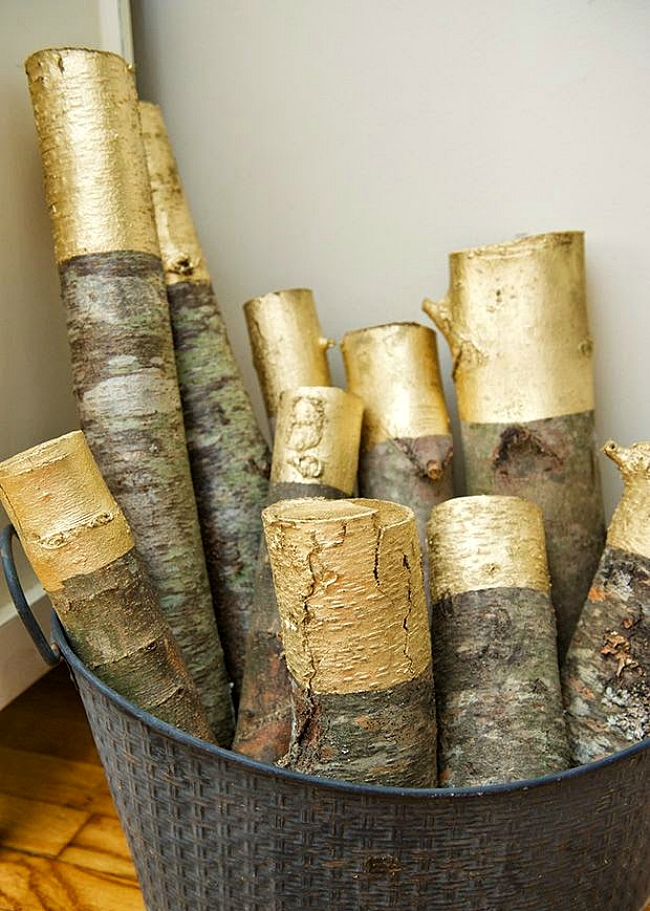 dipped logs
