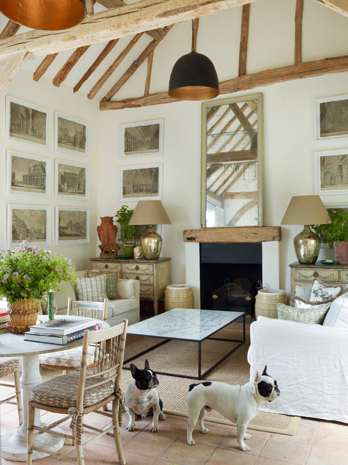 farmhouse-living-room-with-stone-tiles-on-the-floor