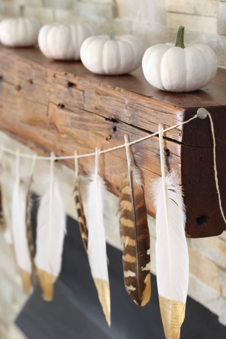 feather mantle garland