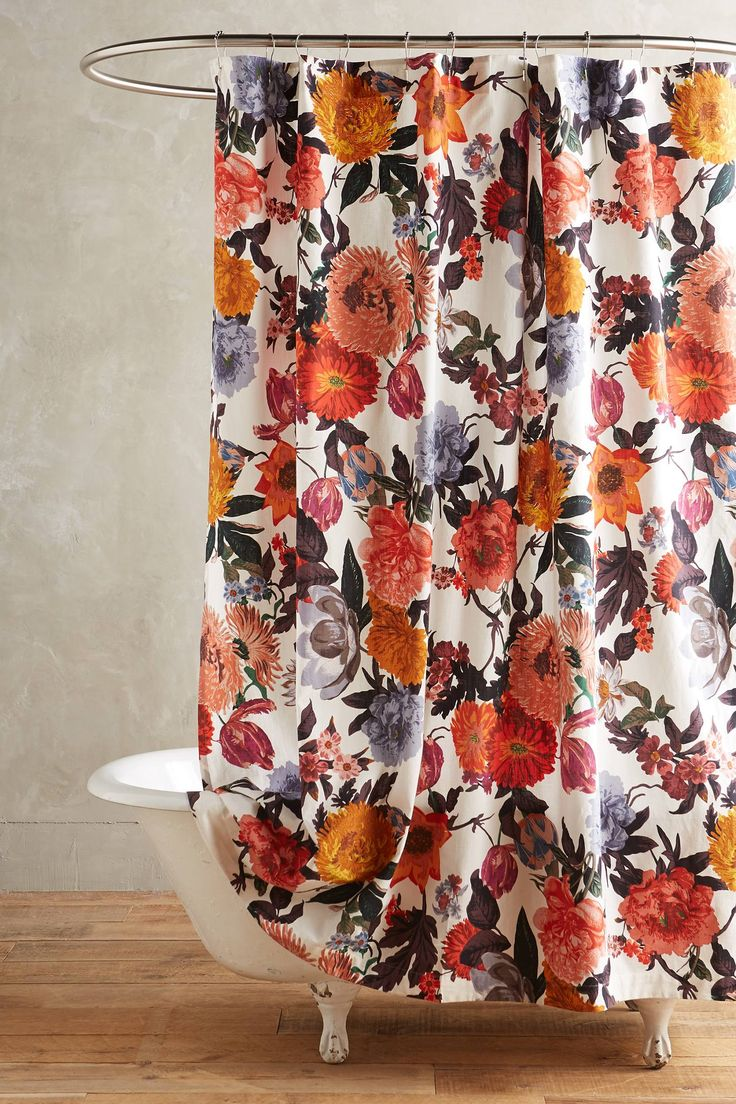 Floral Picture Shower Curtain