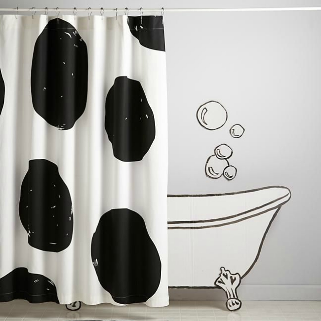 jumbo dots shower curtain