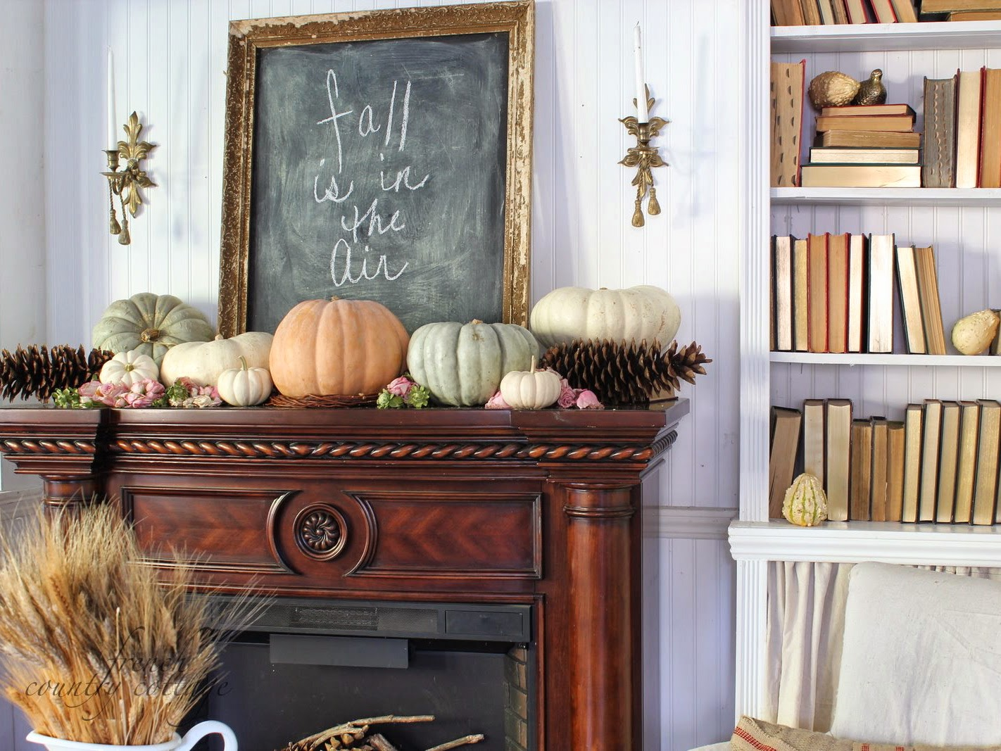 mantle chalkboard