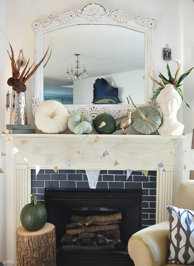 10 tips and tricks for decorating a fall mantle. Black Bedroom Furniture Sets. Home Design Ideas