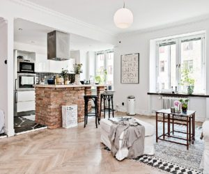 ... One Room Apartment Kept Spacious By A Scandinavian Design