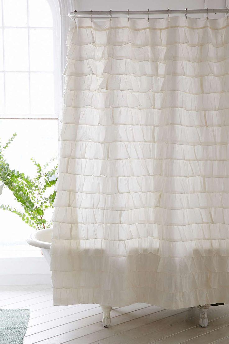 Duschvorhang mit Rüschen
