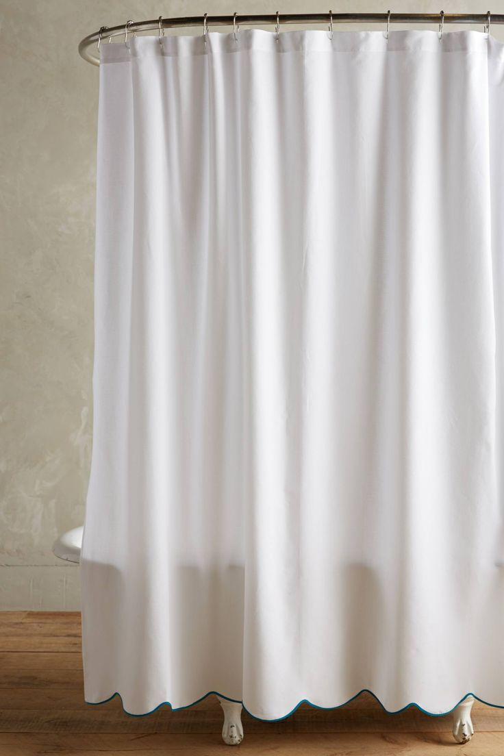 Scalloped Shower Curtain View In Gallery