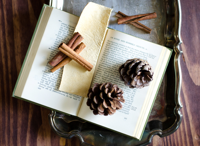 scented leather bookmark