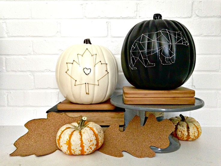 string art pumpkin