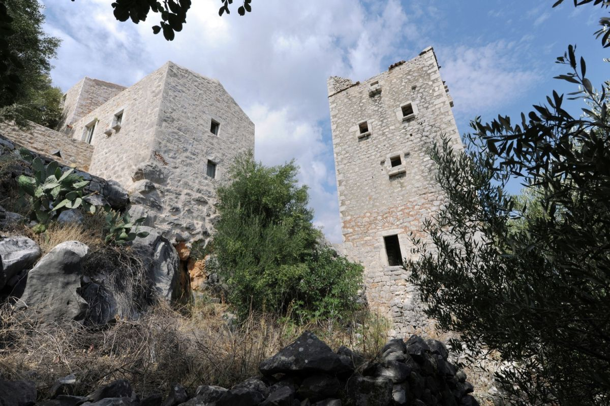 tower holiday house in Greece main tower structure