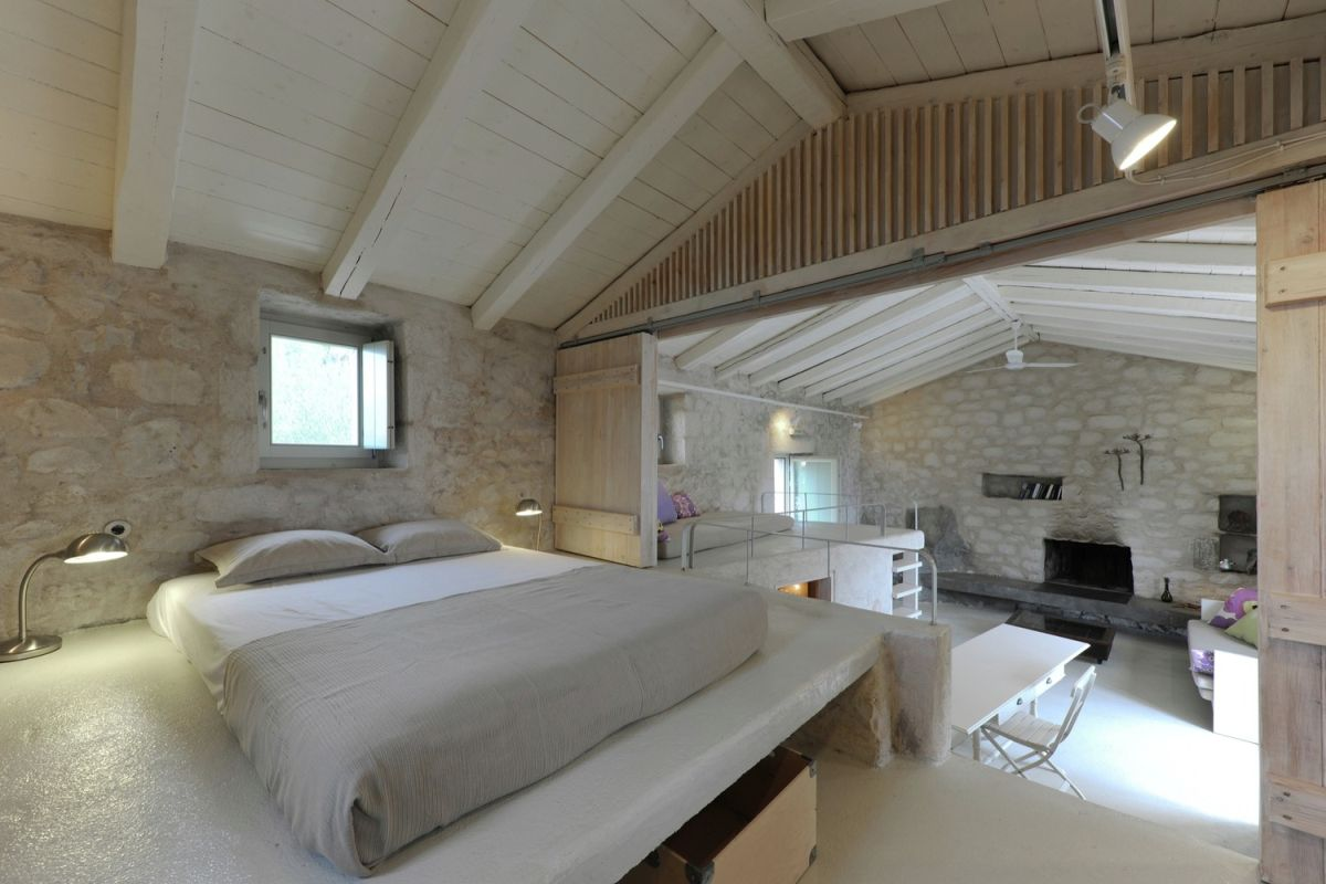 tower holiday house in Greece master bedroom