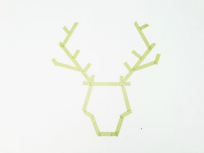 washi tape moose