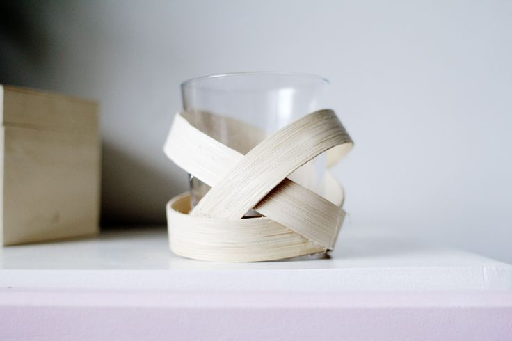 wood strip votive