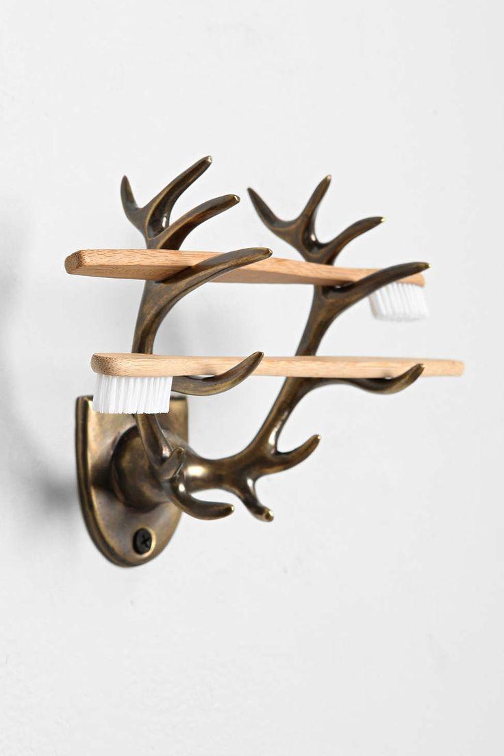 Antlers toothbrush holder