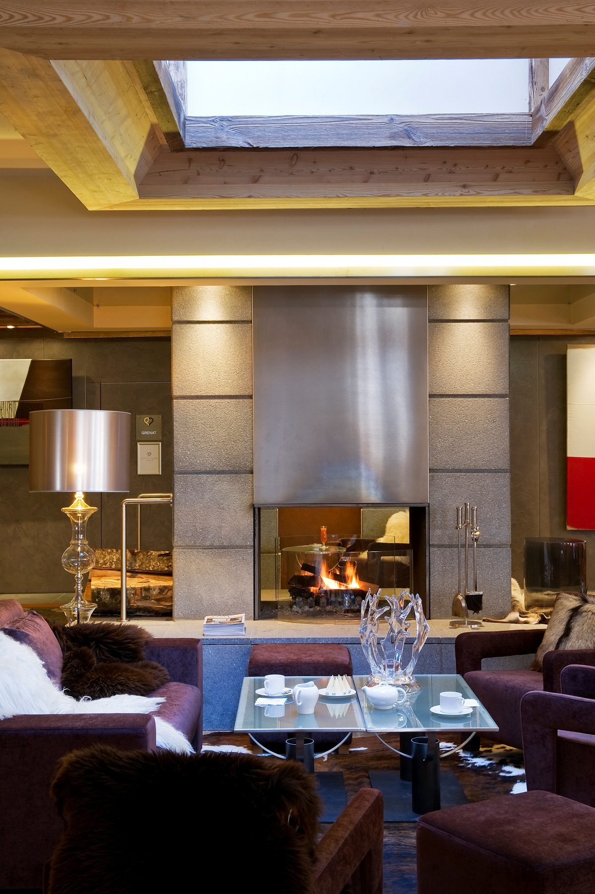 Au Coeur du Village Hotel and Spa Fireplace - La Clusaz, France