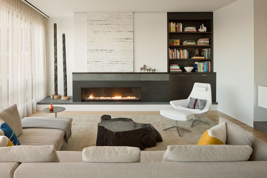 Beaon street modern fireplace