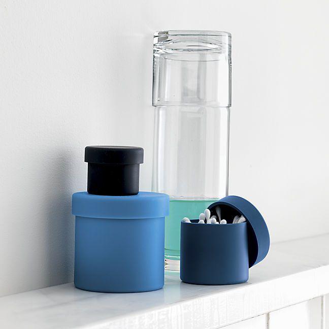 Blue squish bathroom set