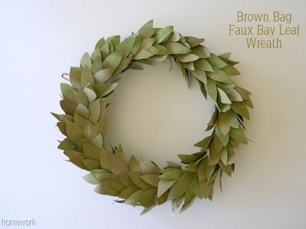 Brown Bag Wreath