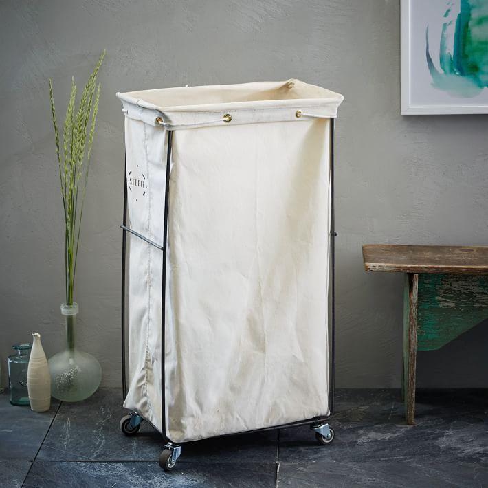 Canvas bathroom hamper