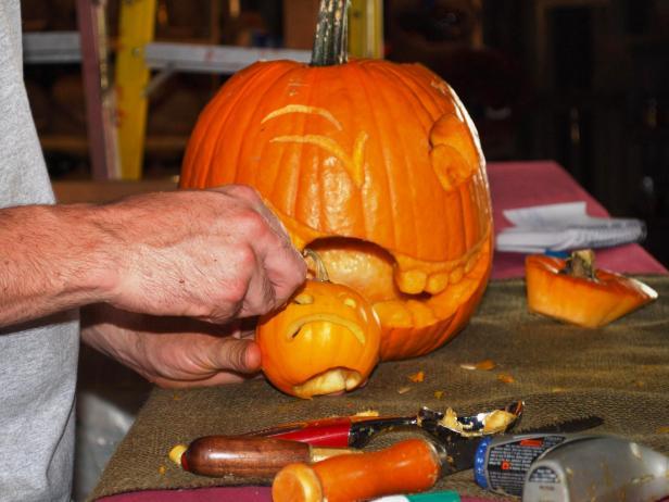 Carve a Pumpkin Within a Pumpkin