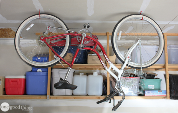 Ceiling storage for bike