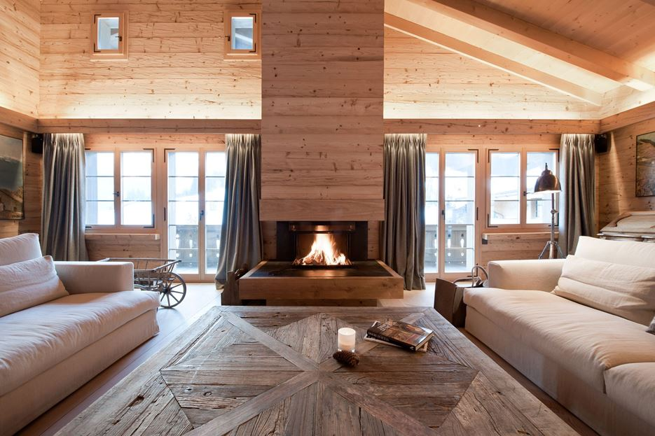 Chalet Gstaad Fireplace