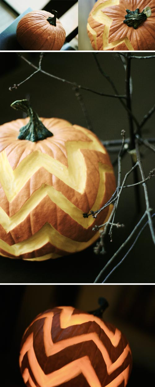 Chevron stripe pumpkin