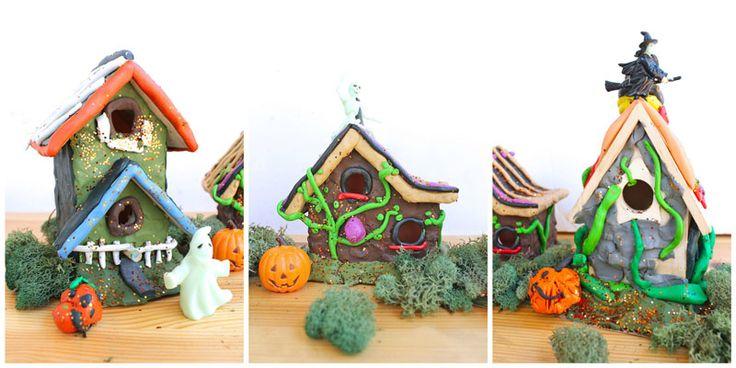 Clay halloween houses