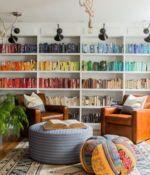 Color coded home library
