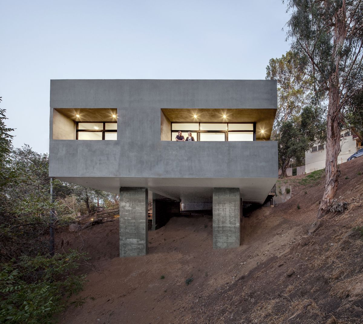 Concrete Car Park House