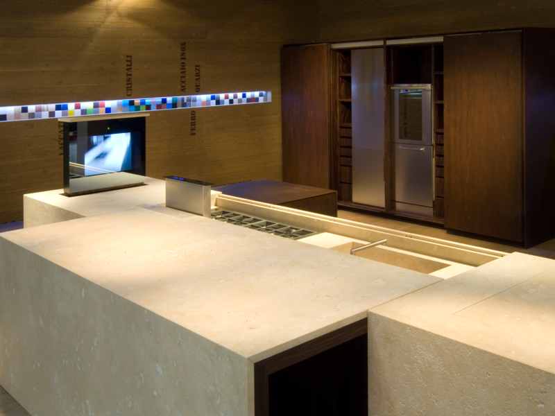 Contemporary Petra Kitchen Design Slide Out