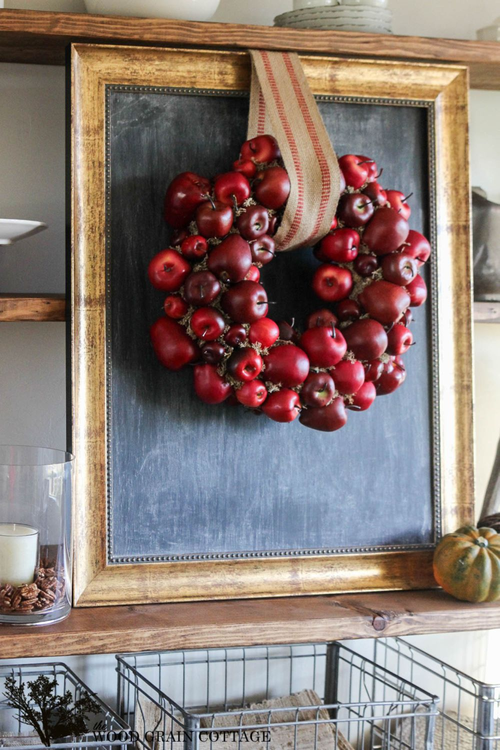 Cool Fall DIY Apple Wreath
