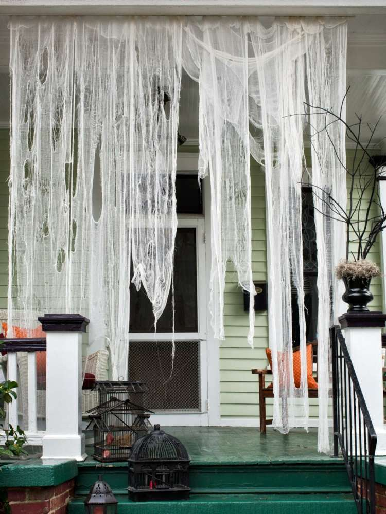 Creepy cheesecloth curtains