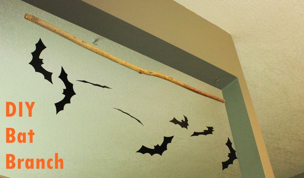 DIY Bat Hanging Branch