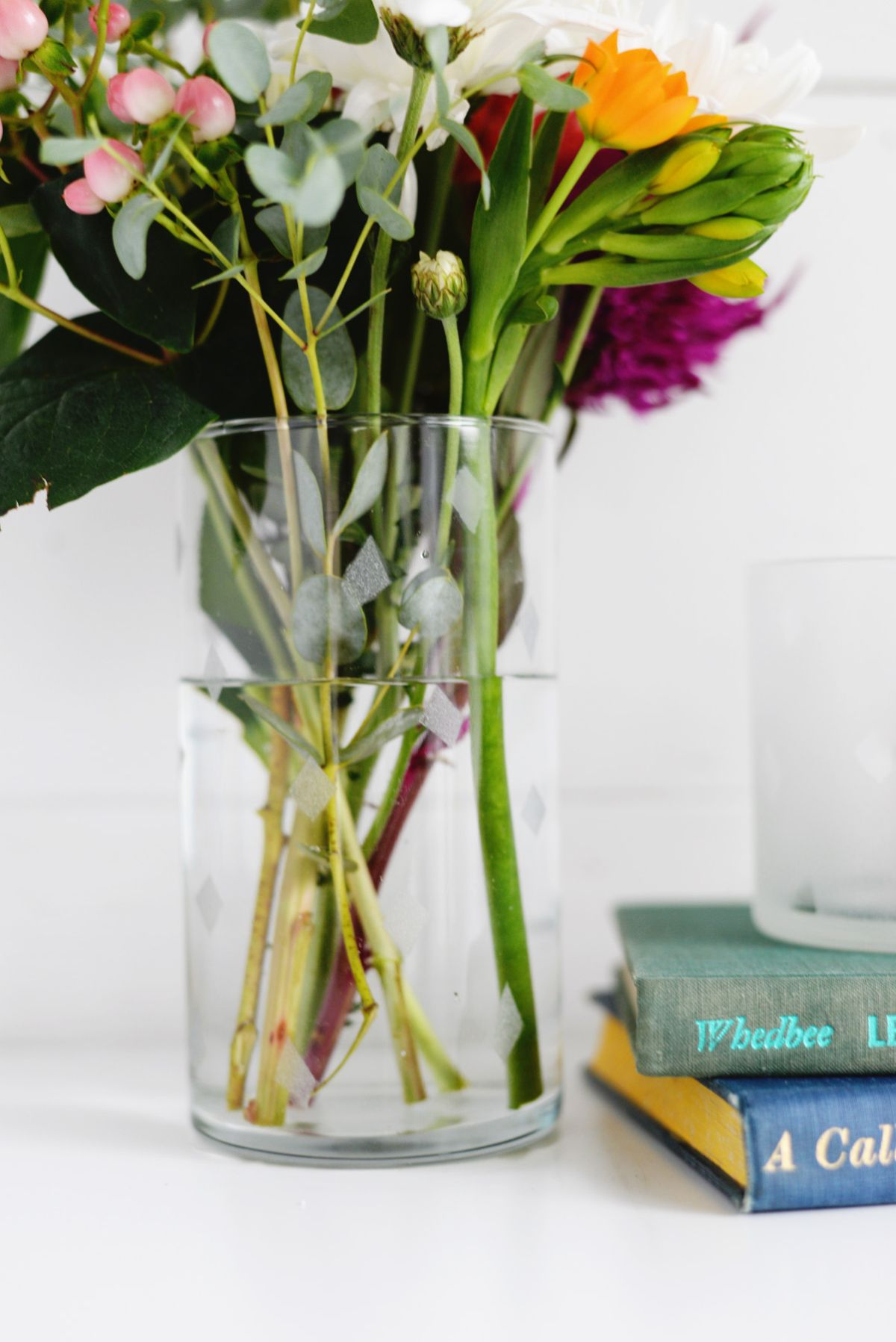 DIY Etched Glass Flower Vase