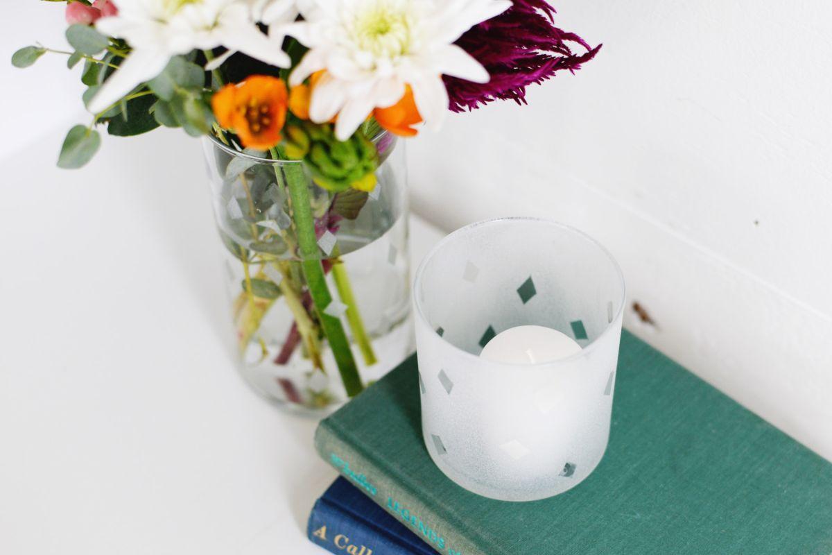 Diy etched glass vase diy etched glass vase top view reviewsmspy