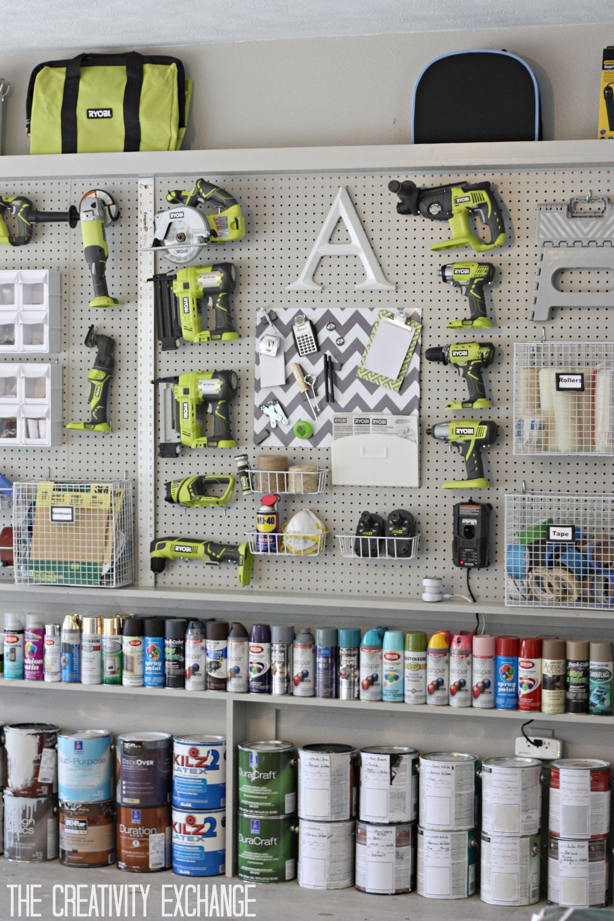 DIY Garage Pegboard For Tools