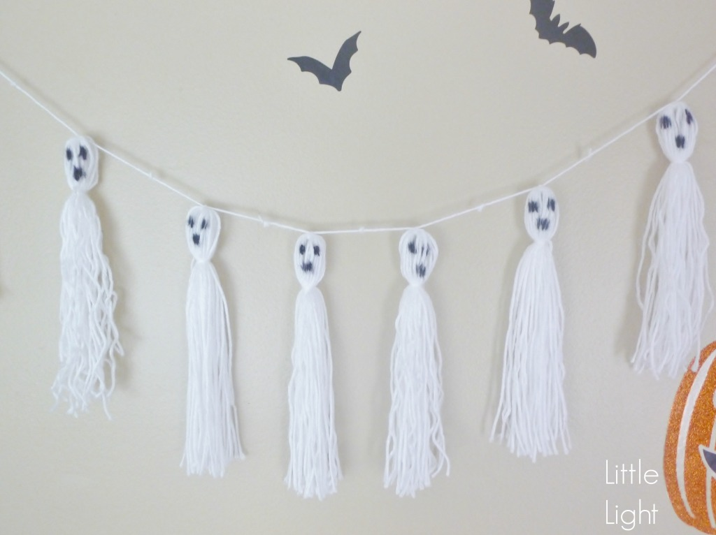 DIY Ghost garlands