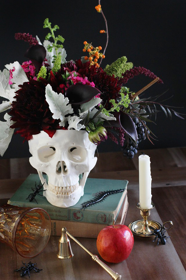 DIY Skull Floral Centerpiece