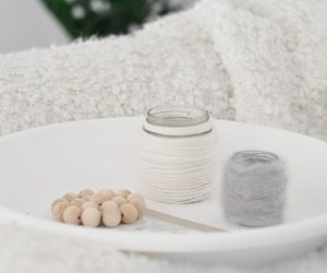 DIY Wool Candle Holder