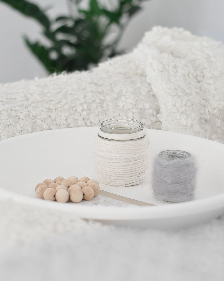 DIY Wool Candle Holder Display