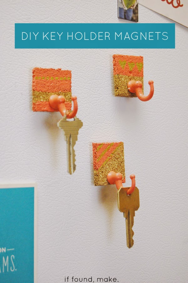 DIY holder magnets for fridge