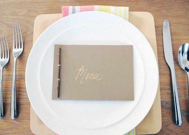 DIY menu book