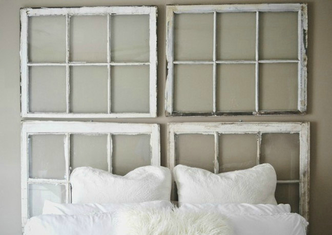 21 diy headboards to fall in bed for diy vintage window headboard solutioingenieria Images